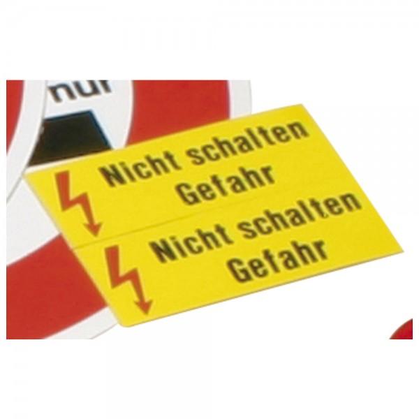 """DÖNGES Warnschild, """"Nicht schalten Gefahr"""", 70 x 25 mm"""