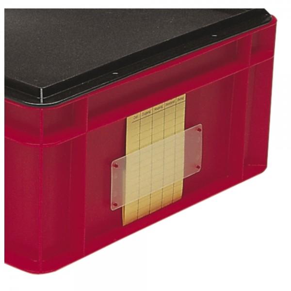 FLOTT Etikettentasche für Stapel-Transportkasten