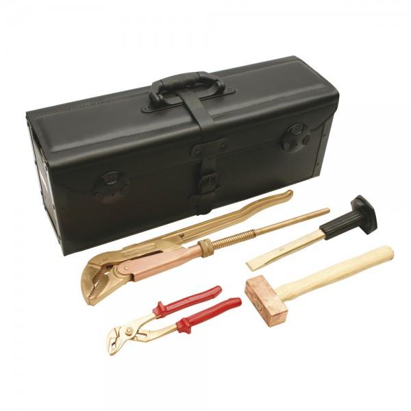 DÖNGES Werkzeugtasche aus Rindleder, 610 x 230 x 180 mm