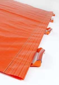 Rettungstuch DIN EN 1865, orange mit Schlauchgriffen