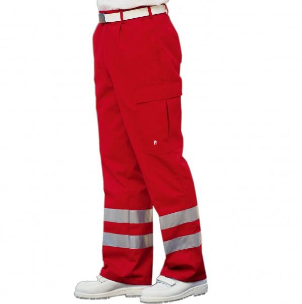 PFITZNER Rettungsdiensthose Das Original rot Reflexstreifen silber