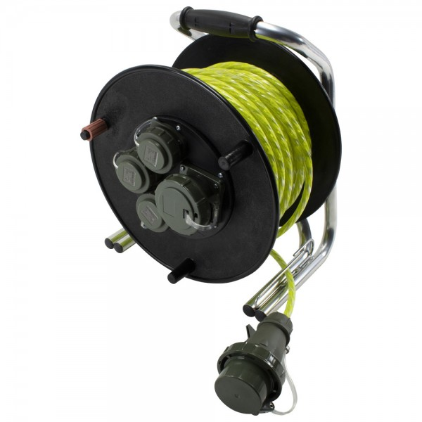 DÖNGES Leitungsroller Feuerwehr RFX 230 V/400 V, mit Reflexkabel, 50 m
