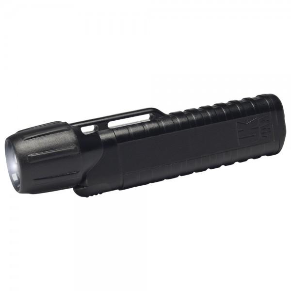 UK Helmlampe 4AA eLED CPO, ES Frontschalter, schwarz