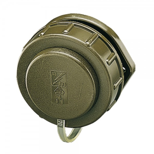 MENNEKES Schuko Anbausteckdose, IP68, bronzegrün, ovaler Flansch