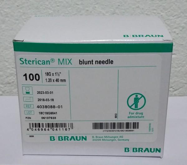 BRAUN Sterican Aufzieh-Kanülen 18 G blunt/stumpf