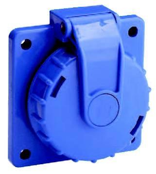 Druckwasserdichte Steckdose 250 V, IP 68