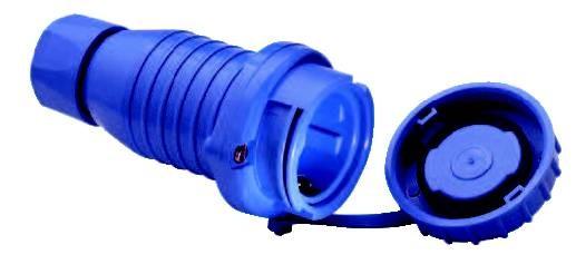 Druckwasserdichte Kupplung 250 V, IP 68