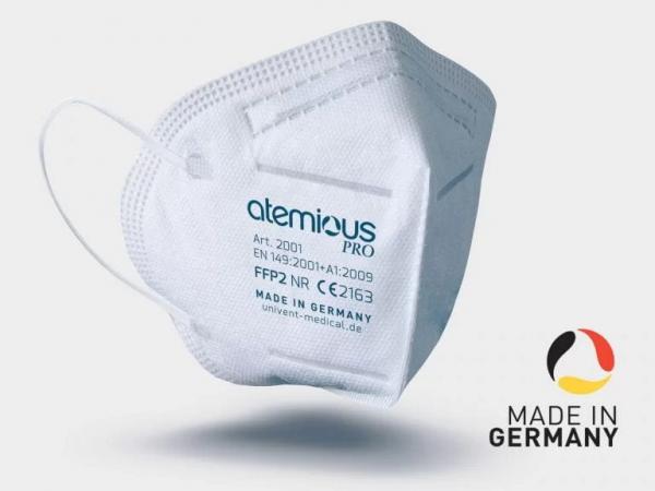 Infektionsschutzmaske Schutzstufe FFP2 CE 2163 Made in Germany