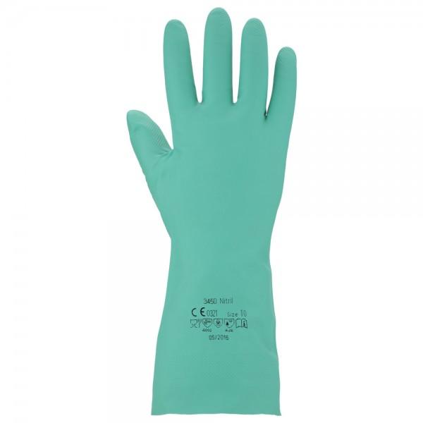 ANSATEX Chemikalienschutzhandschuh Sol-Knit aus Nitril, Größe 10