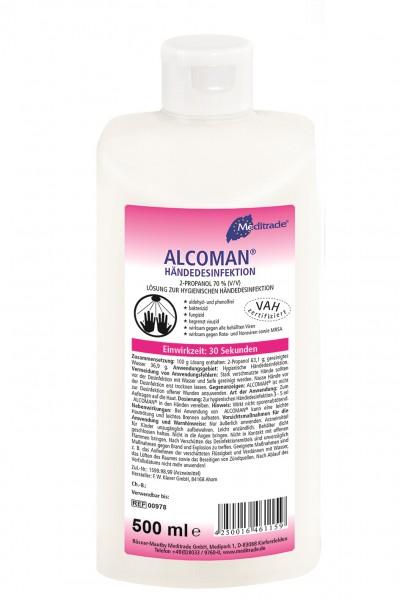 MEDITRADE Alcoman Händedesinfektion 500 ml