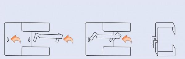 Adapter für ISO-Normschiene