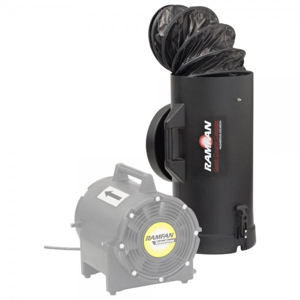 RAMFAN Schnellkuppelbehälter für UB20xx, mit 7,6 m Lutte