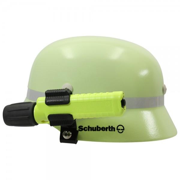 Helmhalterung, Kunststoff/Edelstahl, pulverbeschichtet, gekröpft