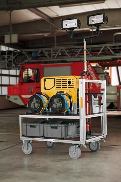 Rollcontainer Strom-Licht