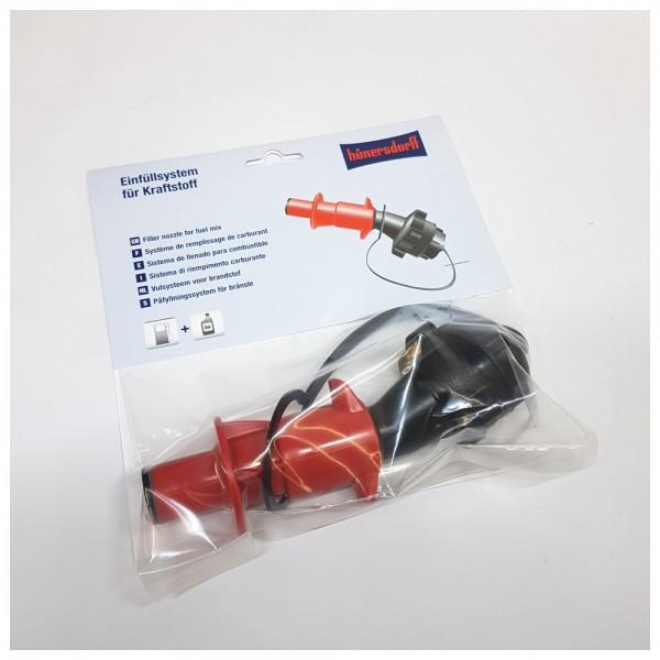 DÖNGES Sicherheits-Auslaufventil für Doppel-Kanister 5L/2,5L, rot (Benzin)