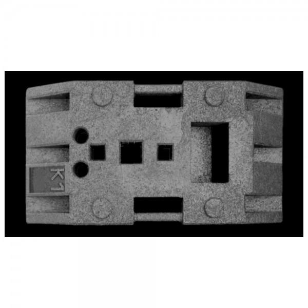 DÖNGES Fußplatte zu Leitbake , 830 x 425 x 120 mm