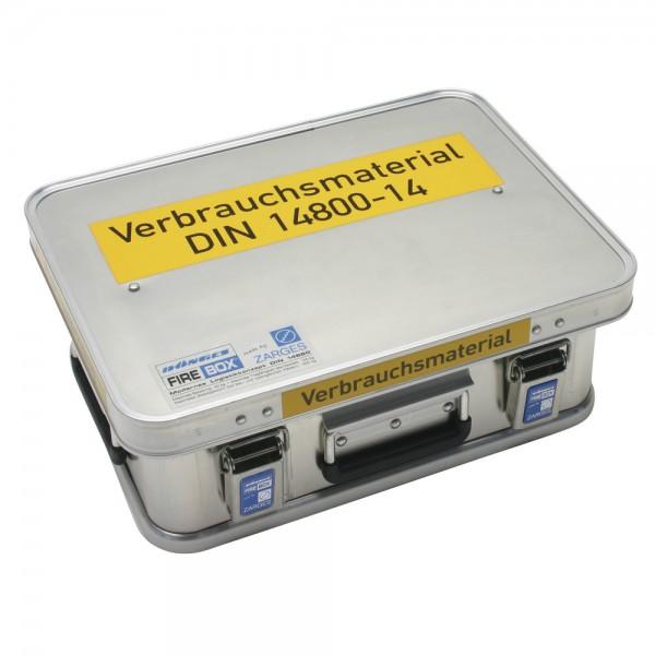 DÖNGES FireBox, Verbrauchsmaterial DIN 14800-VMK
