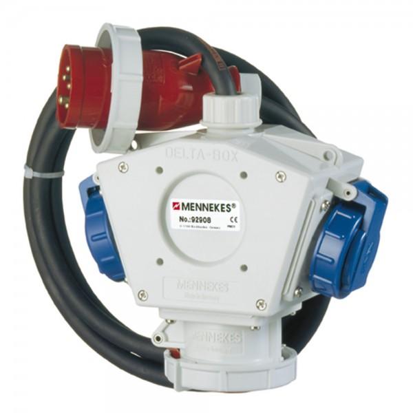 MENNEKES Dreifachverteiler Deltabox 230 V/400 V, 16 A, 2 m