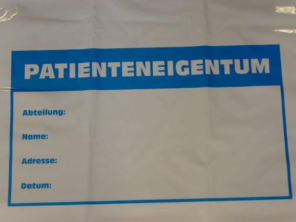 Tragetaschen Aufdruck Patienteneigentum ca. 60x60 cm