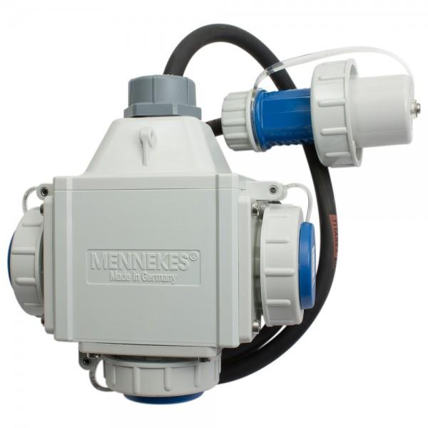 MENNEKES Dreifachverteiler Deltabox 230 V, 16 A, 1,5 m, Compact