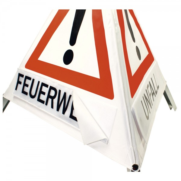 Klett-Faltsignal Tagesleuchtfarbe Feuerwehr, Unfall, Ölunfall
