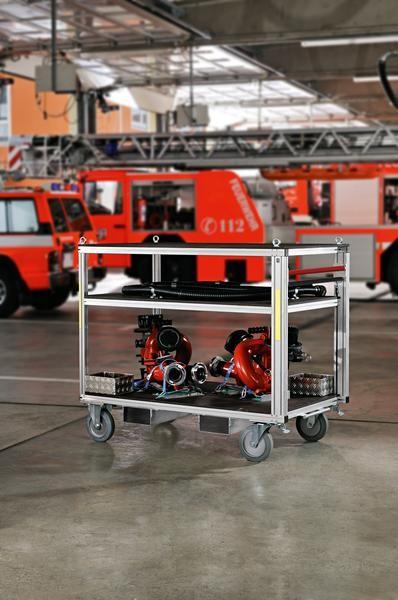 Universal-Rollcontainer mit 2 Plattformen, hoch