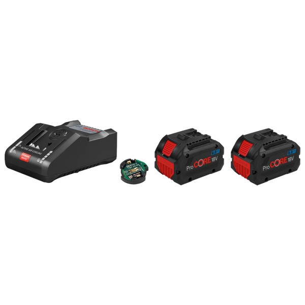 Bosch Akku Starter-Set: 2 Akku ProCORE 18 V, 8,0 Ah, Schnellladegerät GAL 18V-16