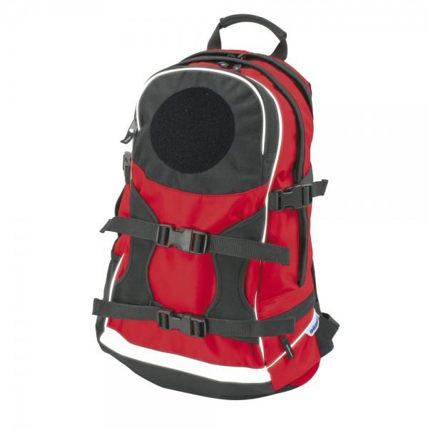 DÖNGES Freizeit-Rucksack mit Flauschfläche, rot, ohne Klettpatch