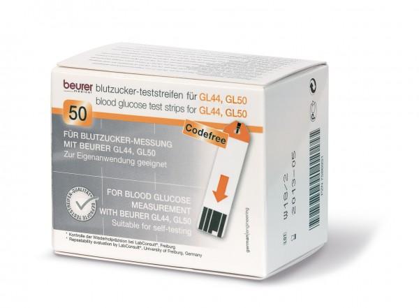 BEURER Blutzucker Einzel-Teststreifen GL44/GL50 einzeln eingeschweißt